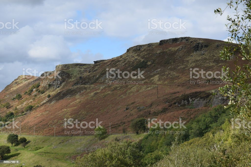 Rhondda Mountian stock photo