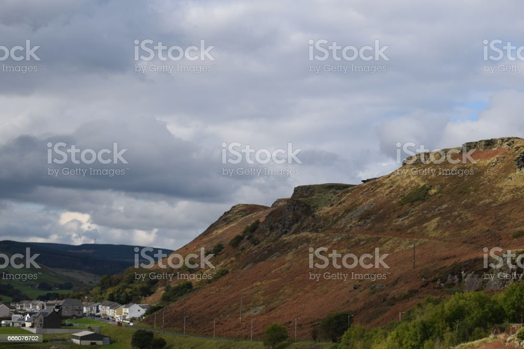 Rhondda Valley stock photo