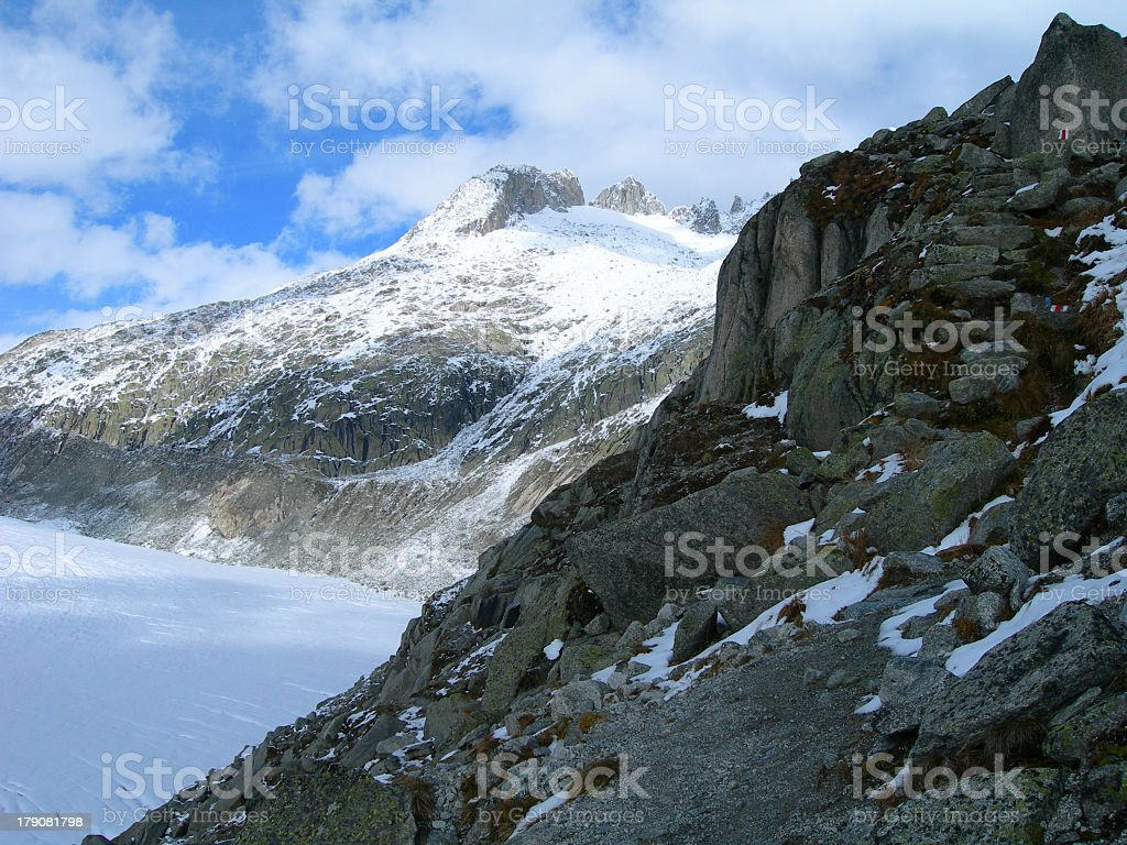 Rhone Glacier in Swiss Alps royalty-free stock photo