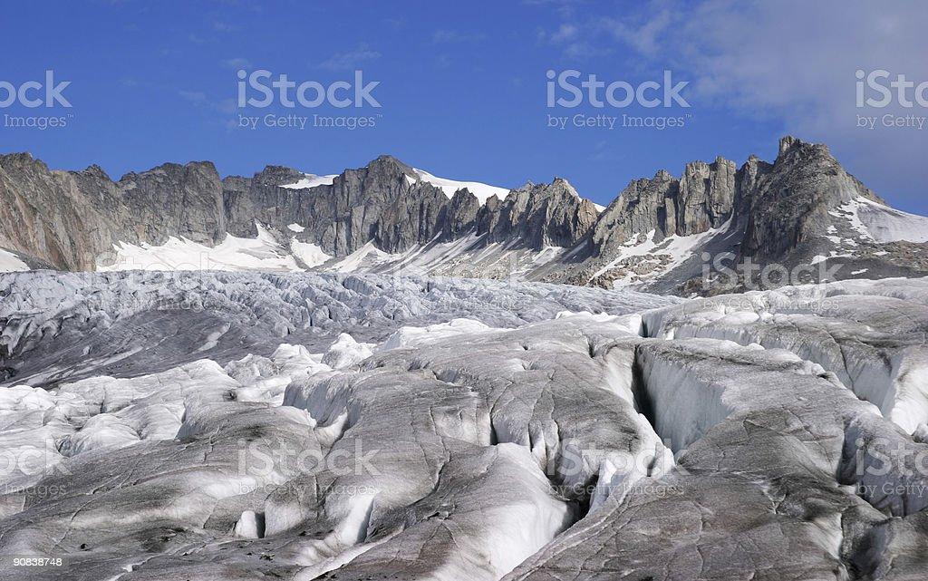 rhone glacier royalty-free stock photo