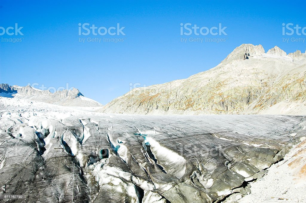 Rhone Glacier, Switzerland stock photo