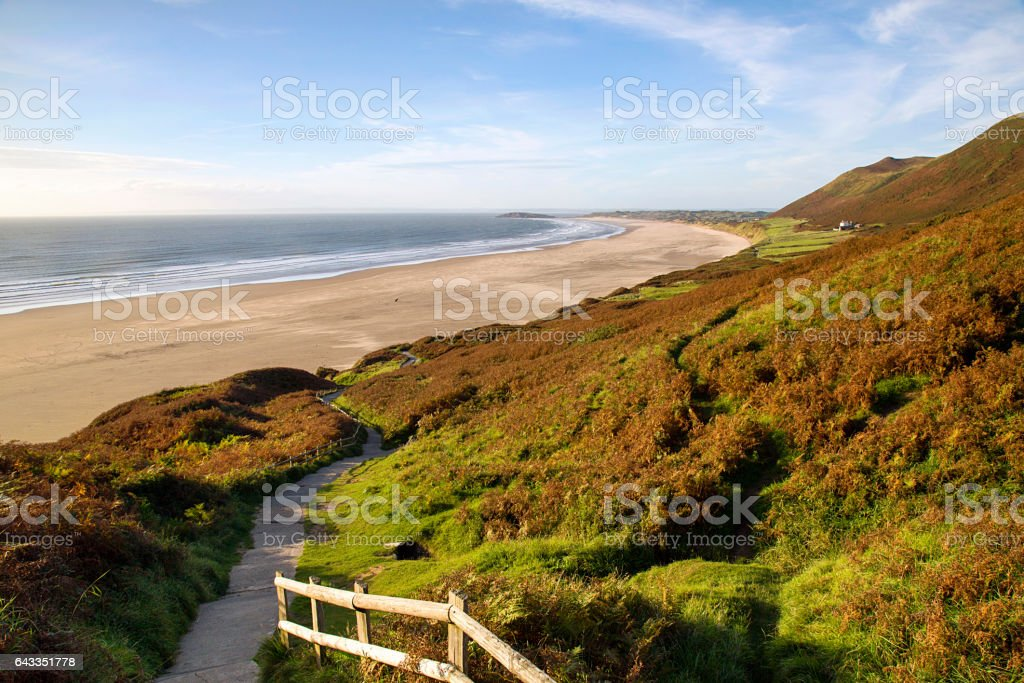 Rhossili Bay - Footpath stock photo
