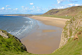 Rhossili Bay on the Gower Peninsular, Wales, UK