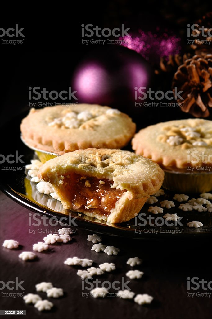 Rhubarb and Stem Ginger Pies III stock photo