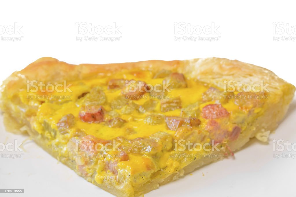 Rhubarb cake royalty-free stock photo