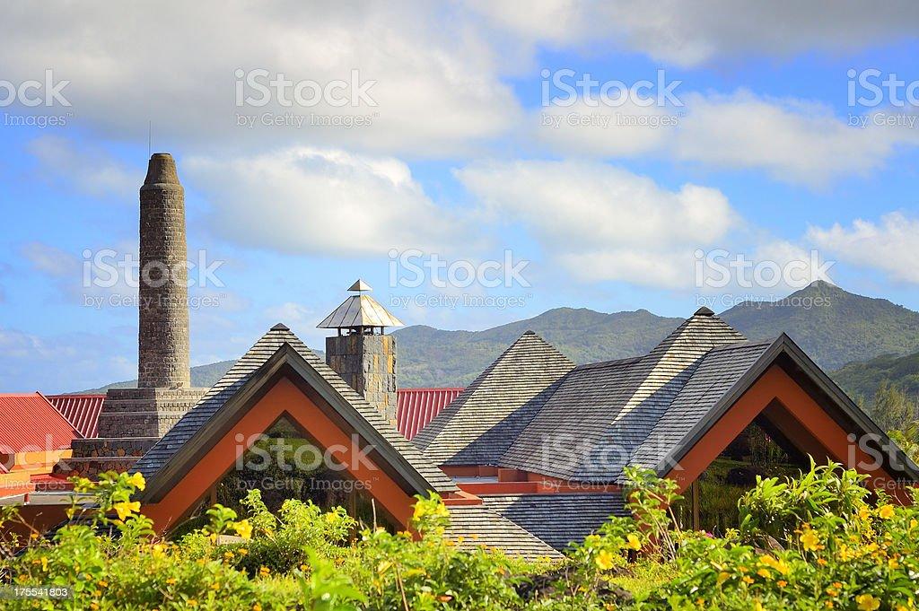 Rhumerie de Chamarel Roofline stock photo