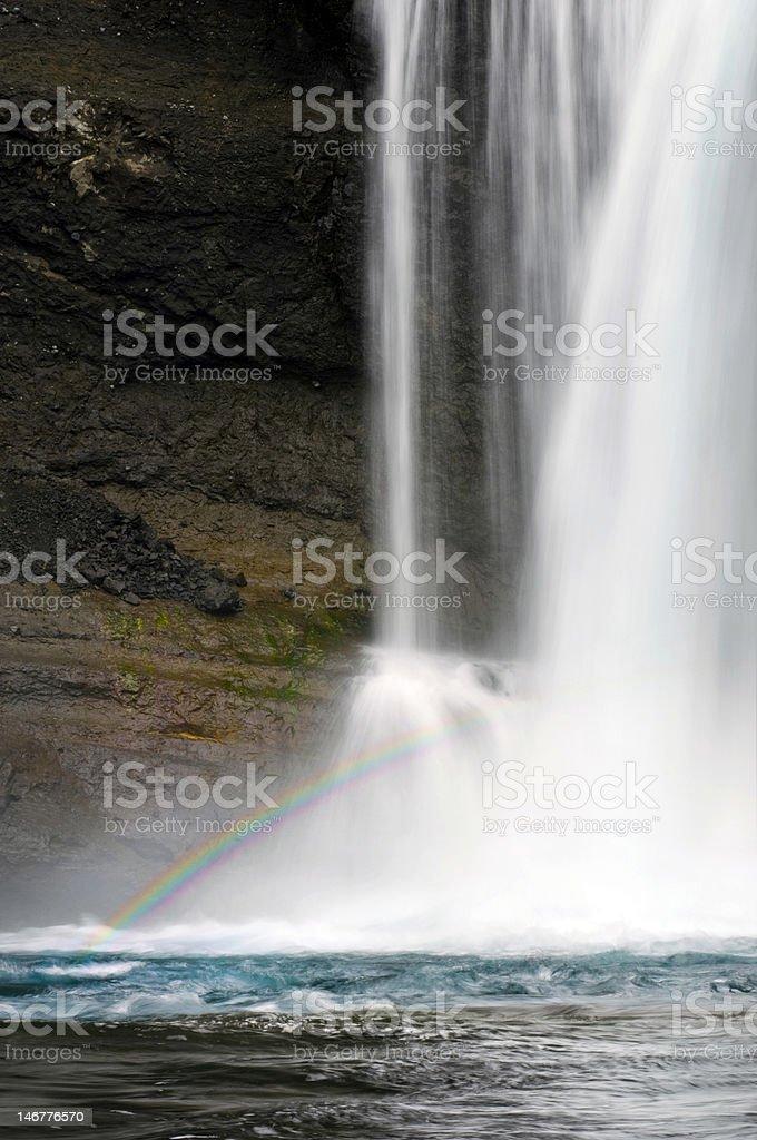Rhyolite falls Rainbow stock photo