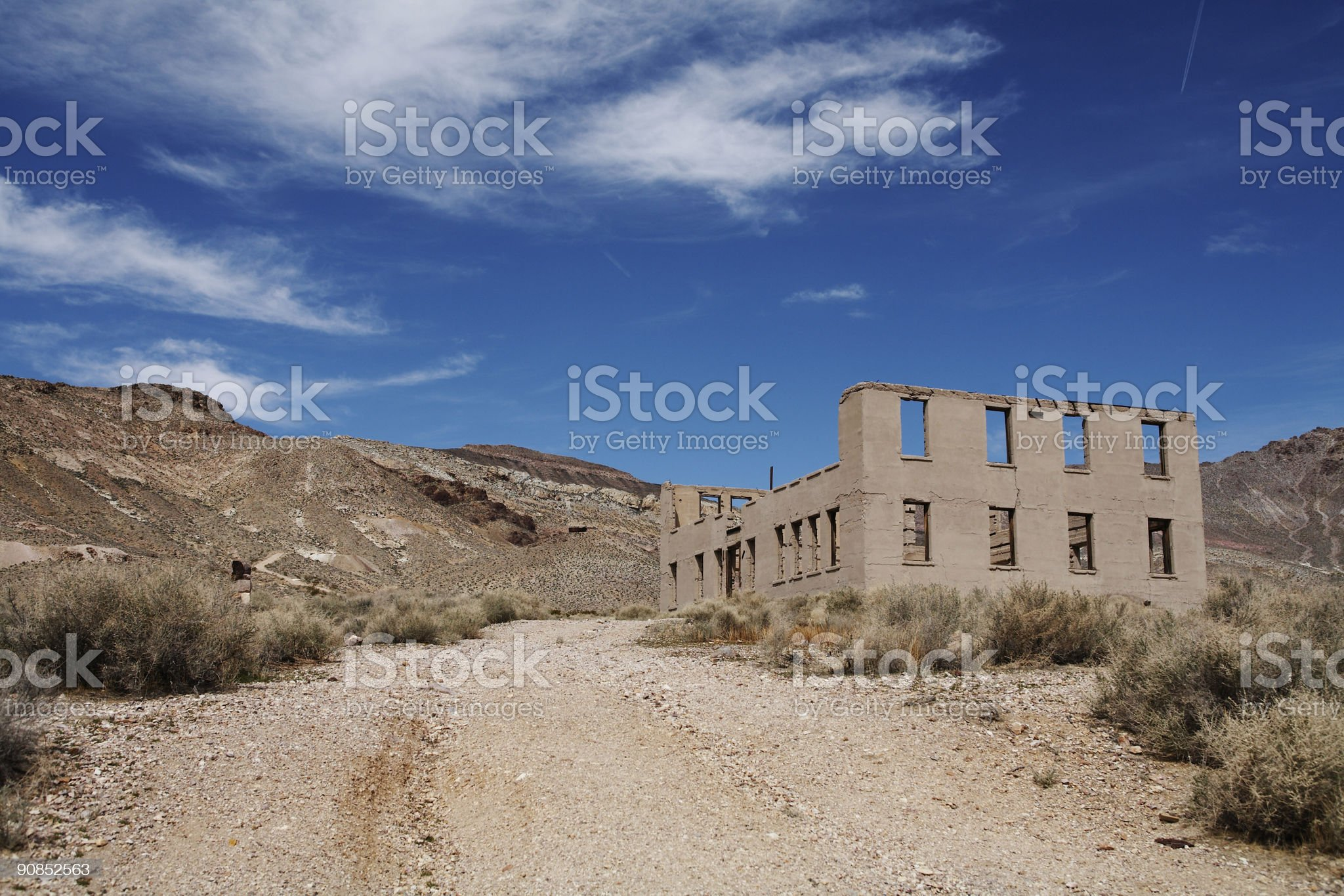 Rhyolite Ghost Town royalty-free stock photo