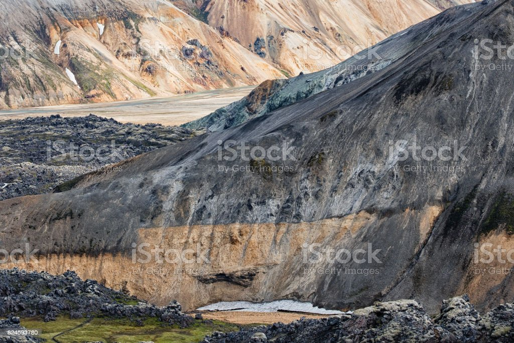 Rhyolite Mountains stock photo