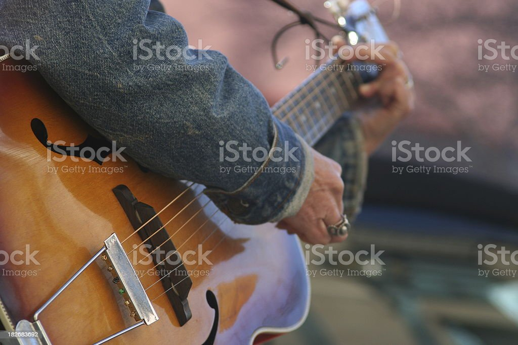 Rhythm of the streets guitar stock photo