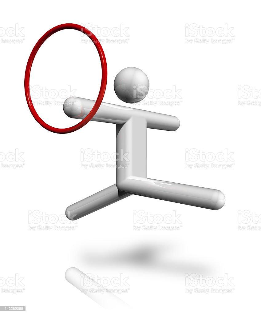 Rhythmic Gymnastics 3D symbol royalty-free stock photo