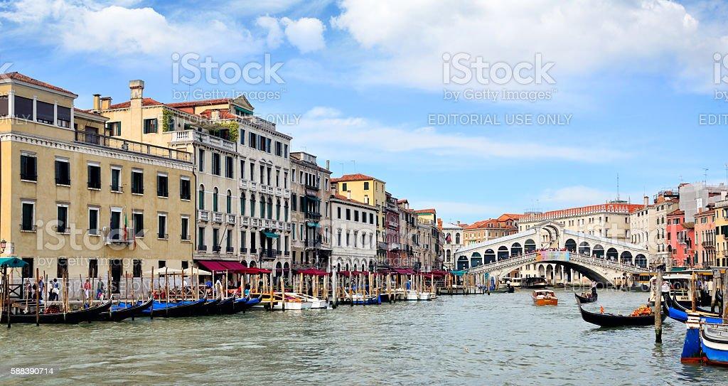 Rialo Bridge, Venice stock photo