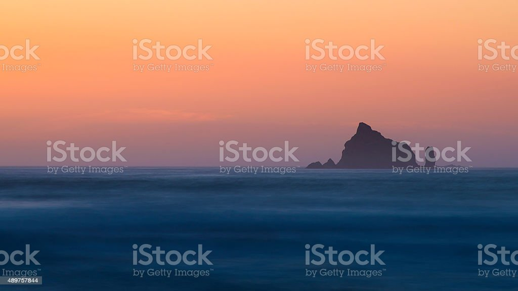 Rialto Beach Sunset stock photo