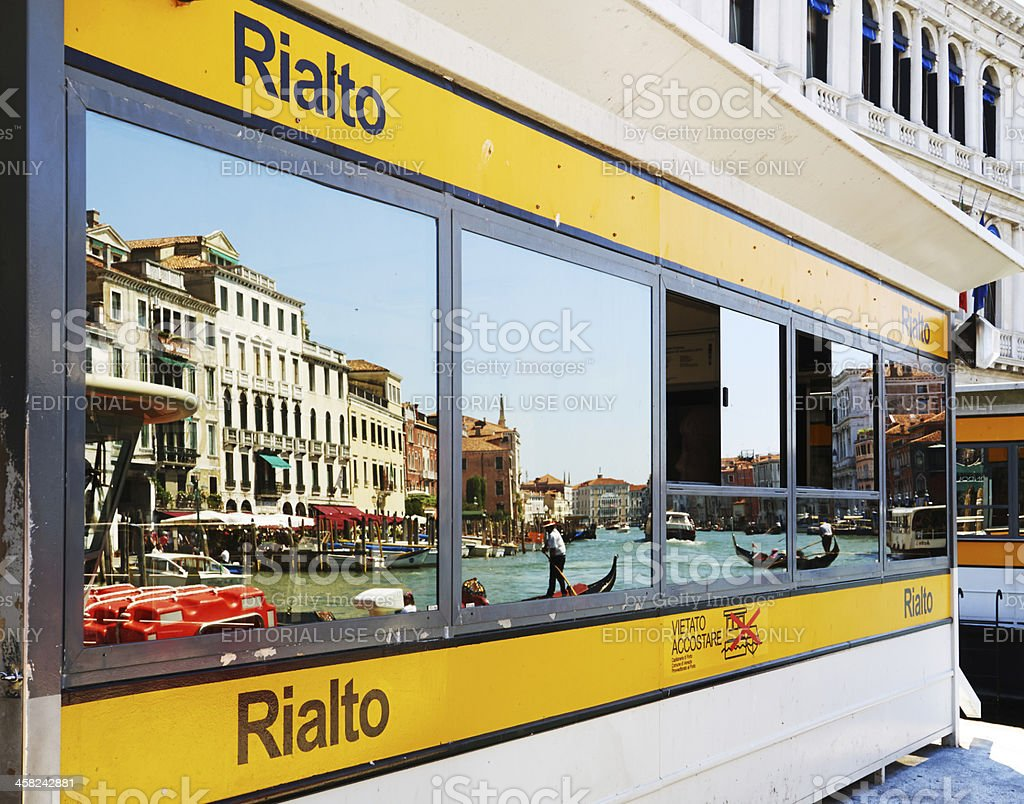 Rialto Boat Station. Color Image royalty-free stock photo