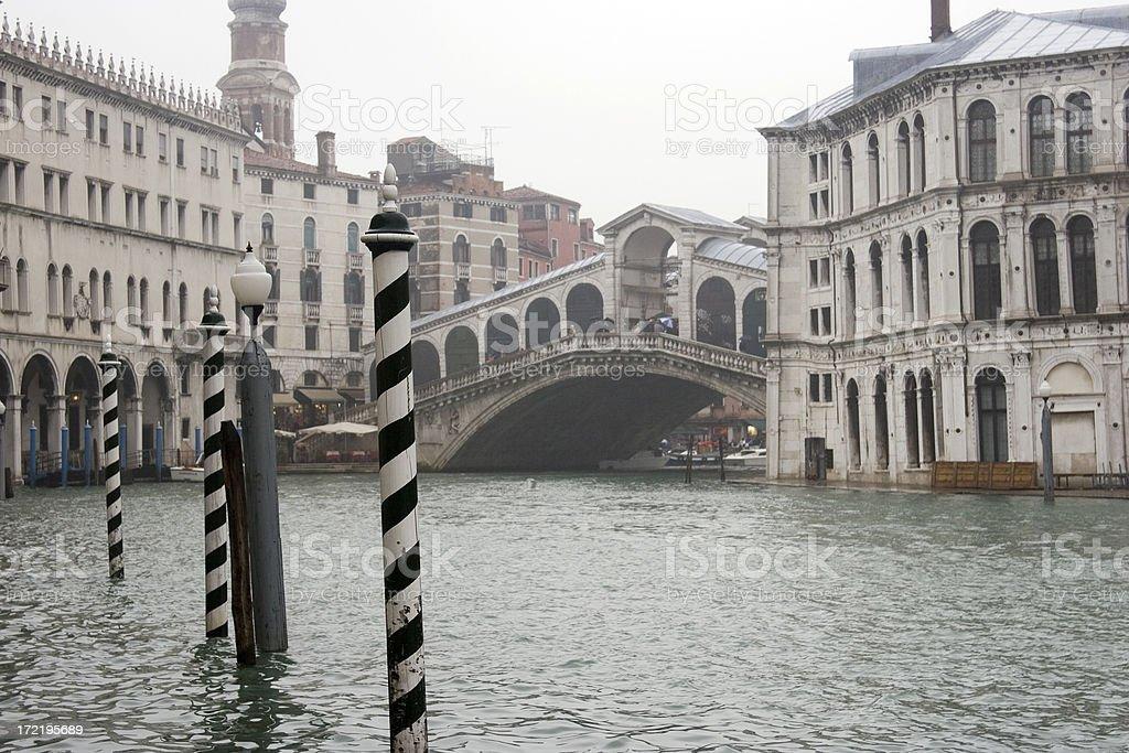 Rialto Bridge and Grand Canal, Venice, Italy royalty-free stock photo