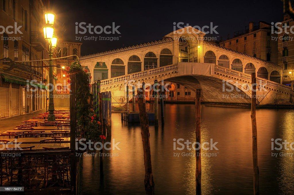 Rialto bridge in Venice Italy royalty-free stock photo