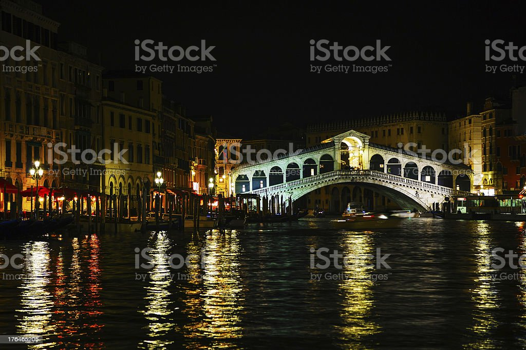 Rialto Bridge (Ponte Di Rialto) in Venice, Italy royalty-free stock photo