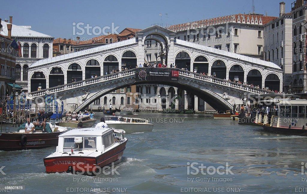 Rialto Bridge in Venice Italy. royalty-free stock photo