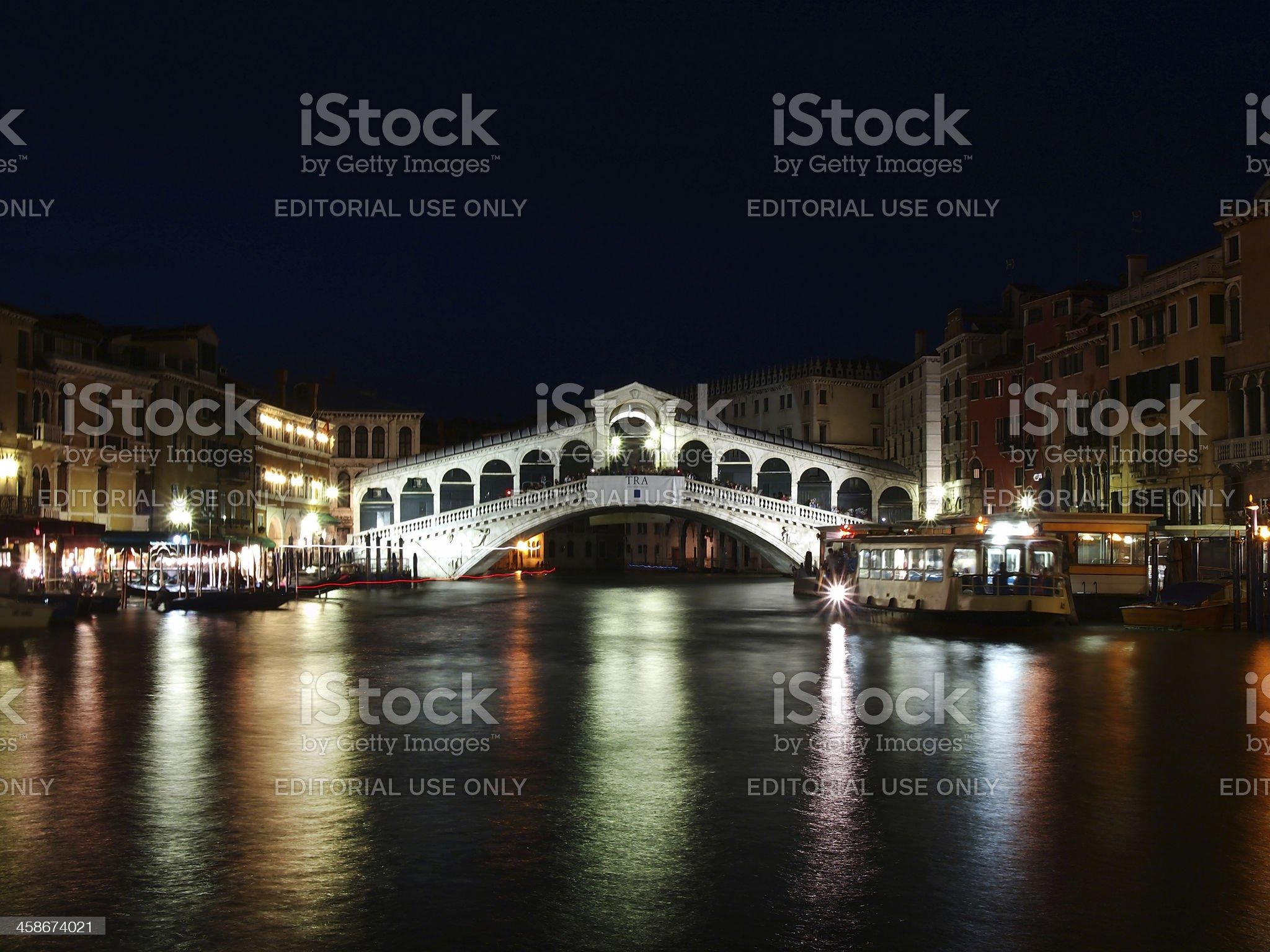 Rialto Bridge in Venice, Italy royalty-free stock photo