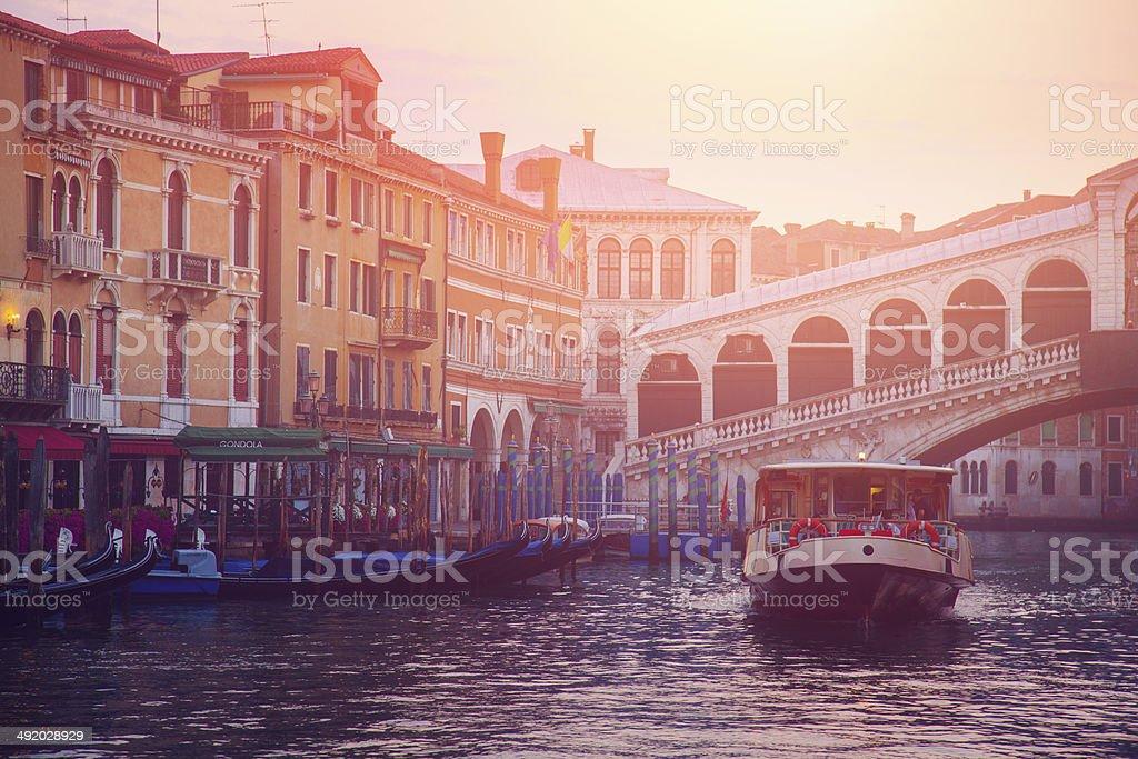Rialto Bridge in Venice royalty-free stock photo