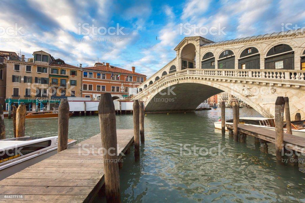 Rialto bridge in Venice stock photo