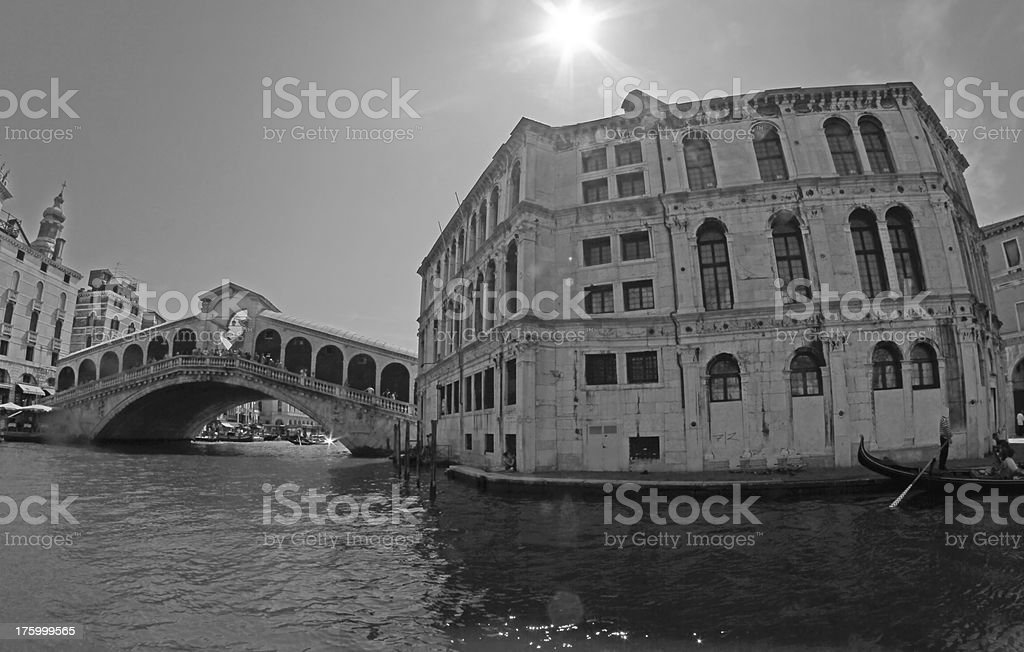 rialto bridge in Venice with the Grand canal 3 royalty-free stock photo