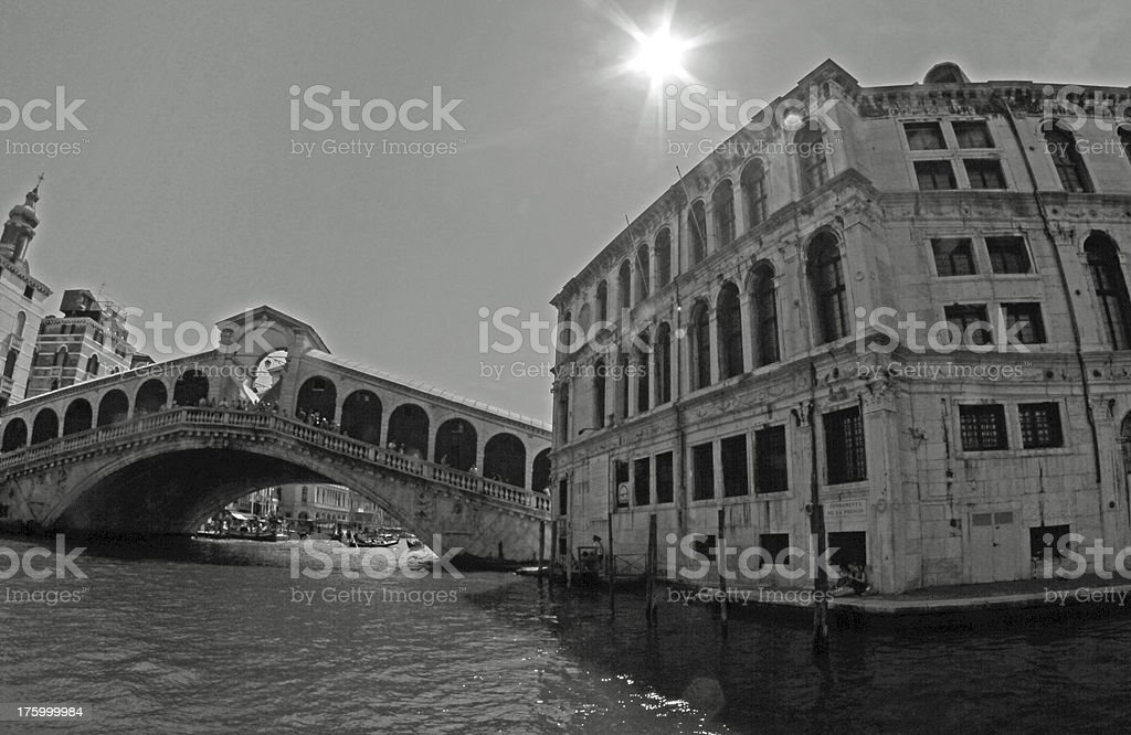 rialto bridge in Venice with the Grand canal royalty-free stock photo