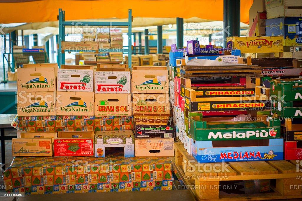 Rialto Bridge Market stock photo
