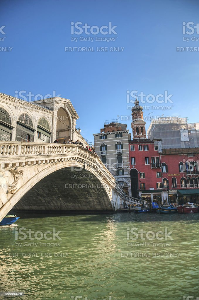 Rialto Bridge (Ponte Di Rialto) on a sunny day royalty-free stock photo