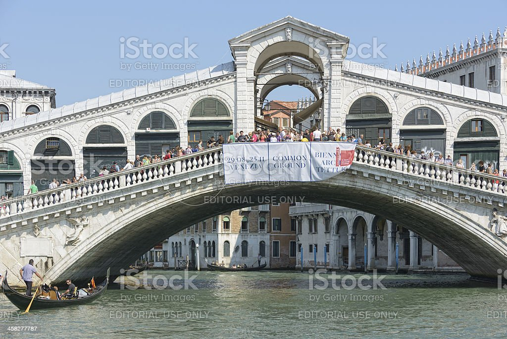 Rialto bridge stock photo