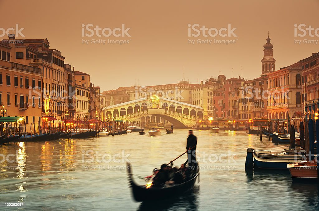 Rialto Bridge, Venice - Italy stock photo
