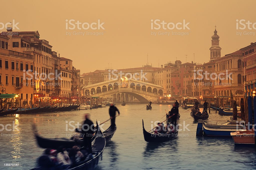 Rialto Bridge, Venice - Italy stock photo
