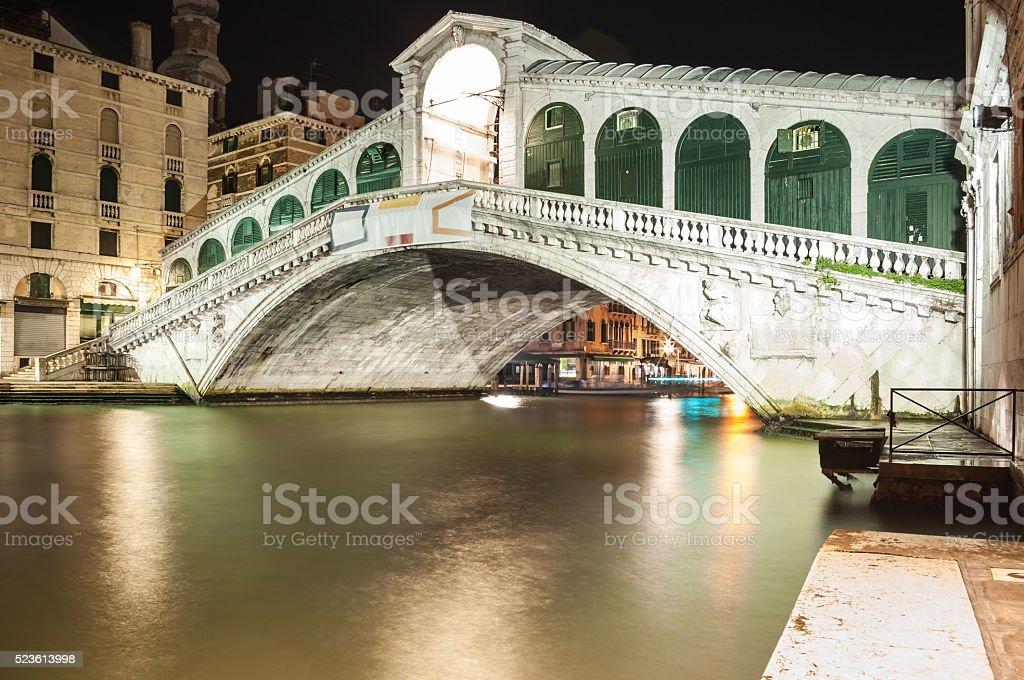 Rialto bridge Venice Italy. stock photo