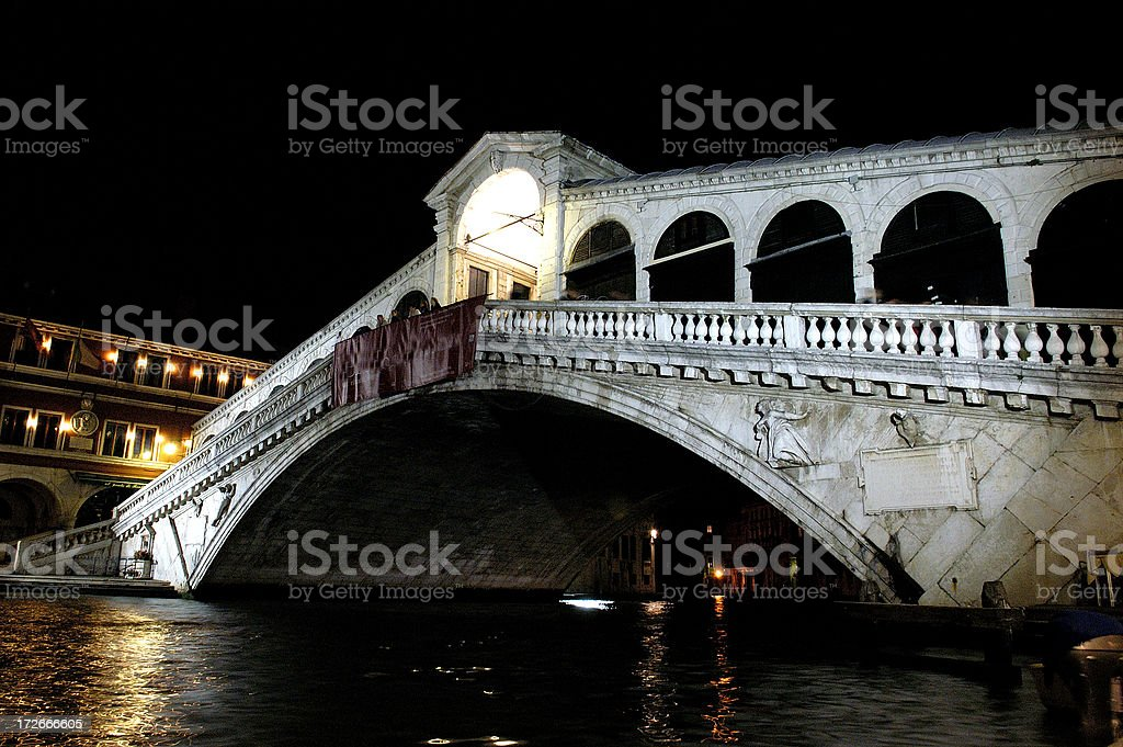 Rialto Bridge Venice royalty-free stock photo