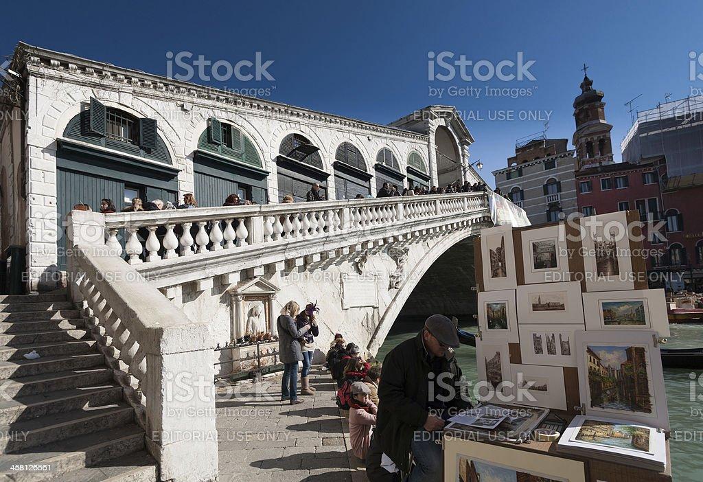 Rialto's bridge royalty-free stock photo