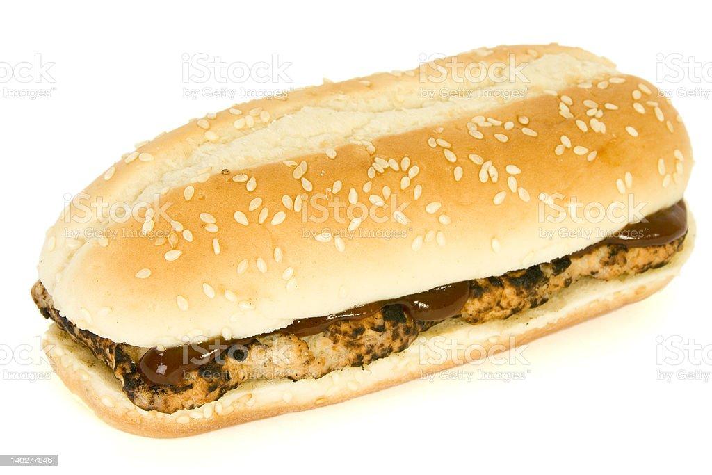 Rib BBQ sandwich - Fast Food royalty-free stock photo
