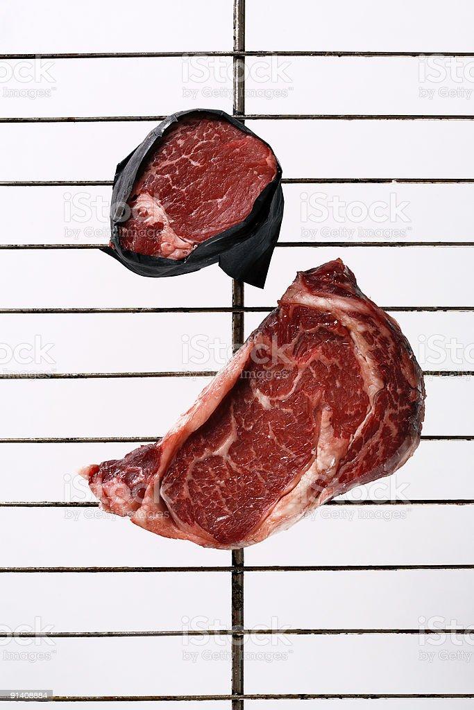 rib eye and sirloin steak royalty-free stock photo