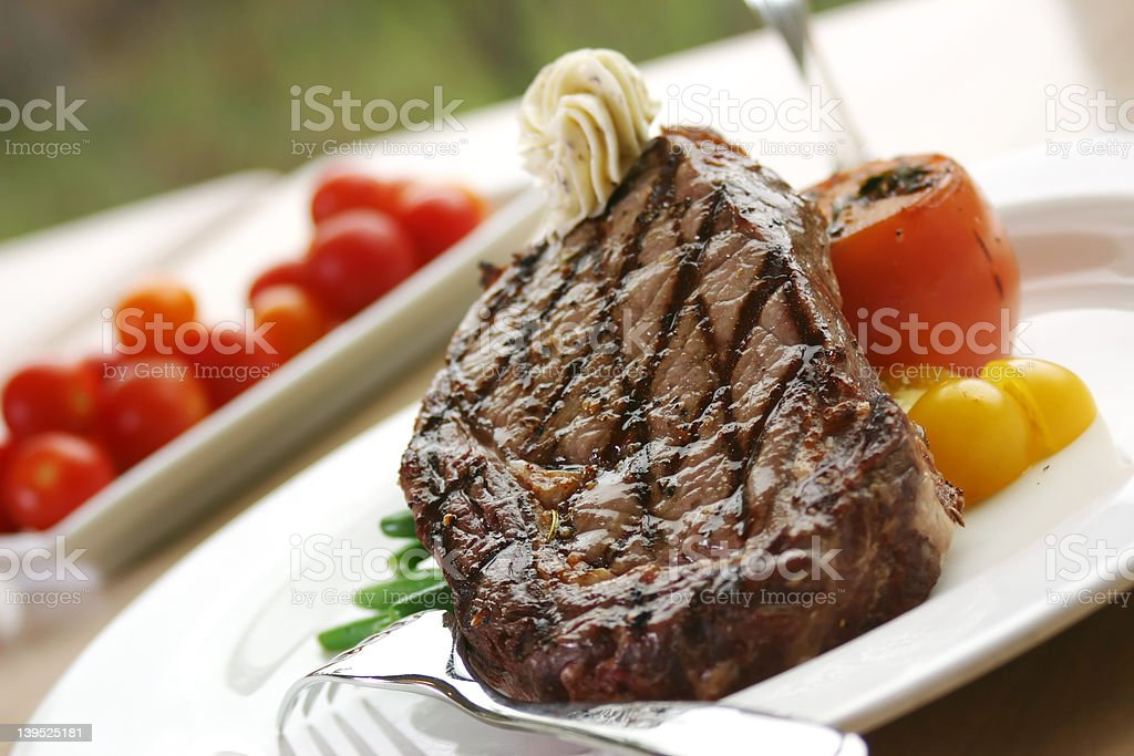 Rib Eye Steak royalty-free stock photo