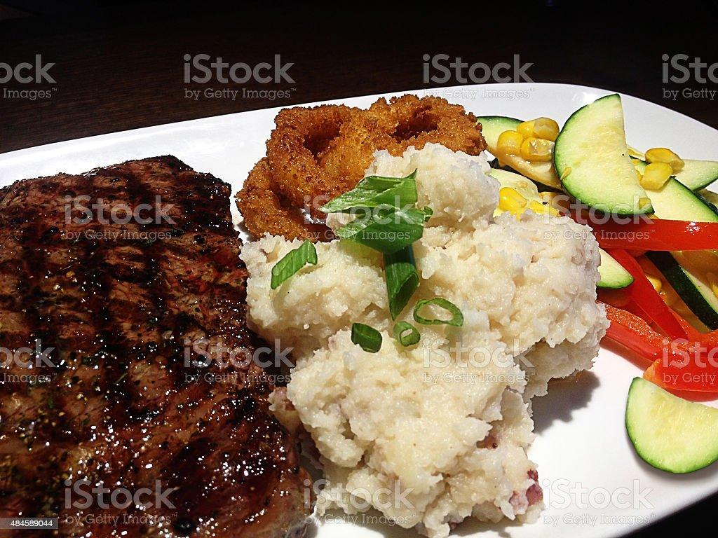 Rib Eye Steak Meal stock photo