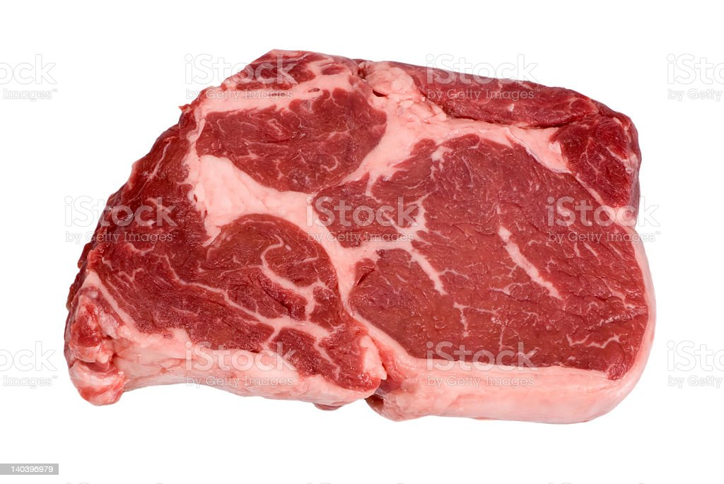 Rib Eye Steak Raw royalty-free stock photo