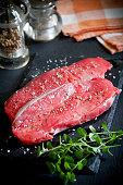 Rib Eye Steak With Spices