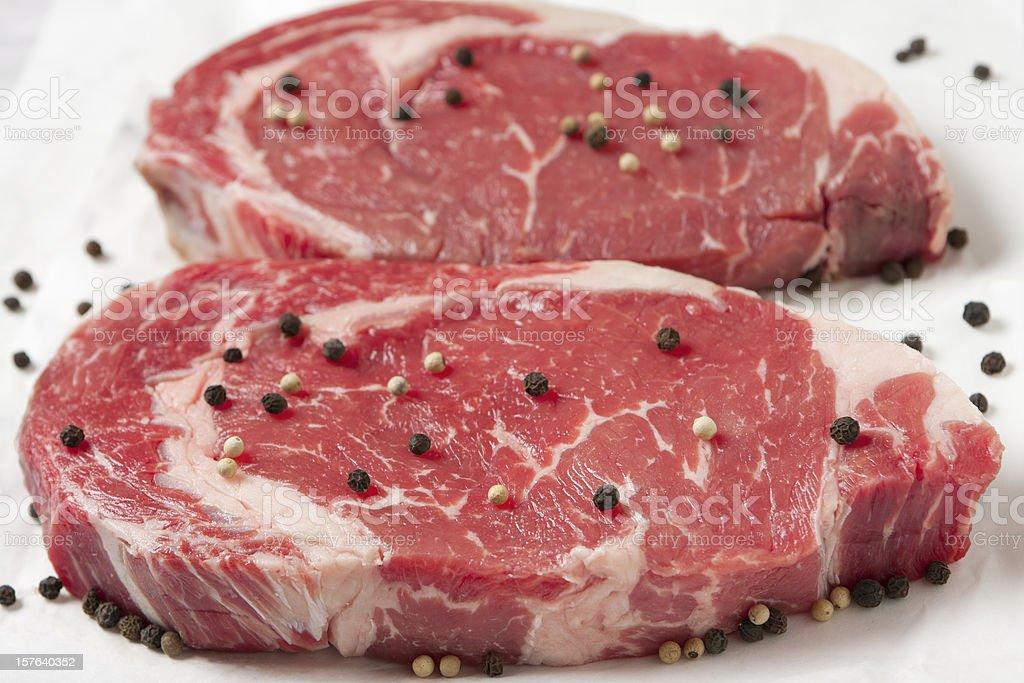 Rib Eye Steaks royalty-free stock photo