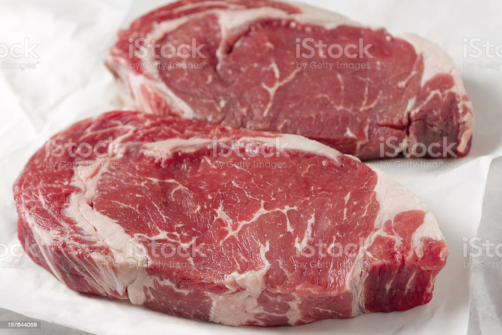 Rib Eye Steaks royalty-free stock photo