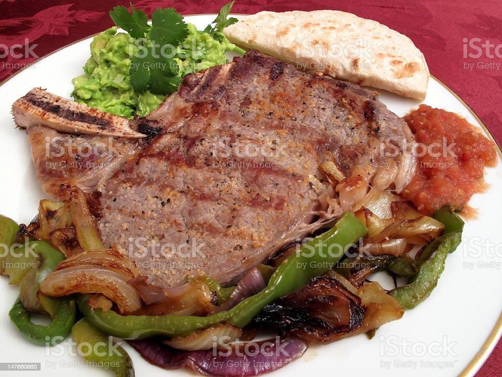 Rib Steak Dinner royalty-free stock photo
