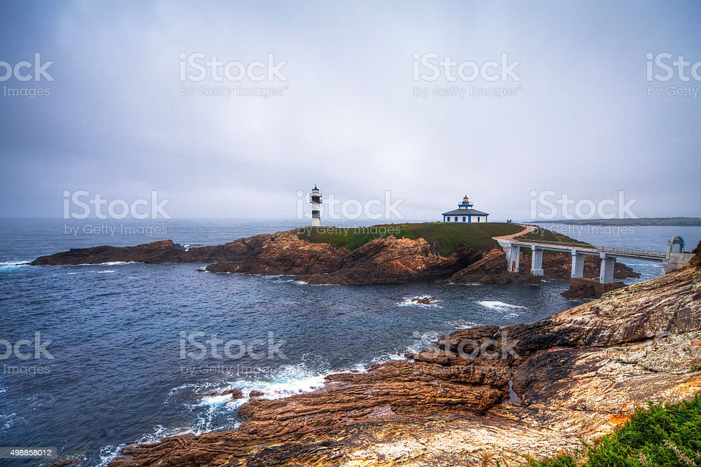 Ribadeo lighthouse stock photo