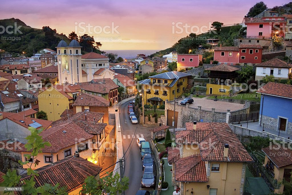 Ribadesella, Spain stock photo