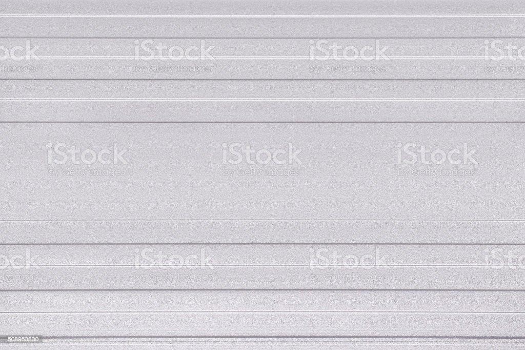 Ribbed aluminum background stock photo