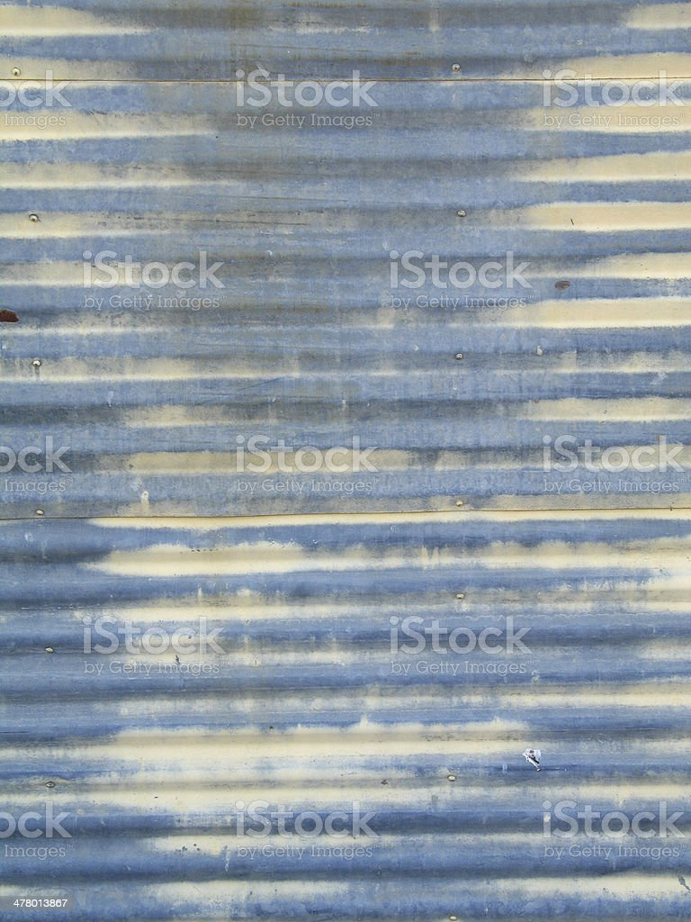 Ribbed metal wall with paint royalty-free stock photo