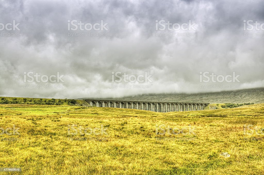 Ribble Head Viaduct in the Dales, England, UK stock photo