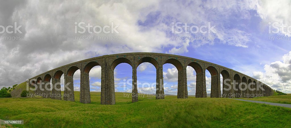 Ribblehead viaduct 32MP royalty-free stock photo